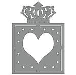Aplique em Chipboard Scrap Formas Cardboard Moldura Coroa Sfc13-002 Litoarte