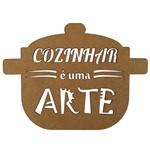 Aplique em MDF 15x20cm Caçarola Cozinhar é uma Arte - Palácio da Arte