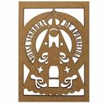 Aplique em MDF 15x10cm Nossa Senhora Aparecida - Palácio da Arte