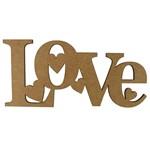 Aplique em MDF 7x15cm Love 4 Corações - Palácio da Arte