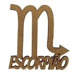 Aplique em MDF 7x6,5cm Signo de Escorpião - Palácio da Arte