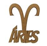 Aplique em MDF 8x6,5cm Signo de Áries - Palácio da Arte
