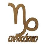 Aplique em MDF 8x6,5cm Signo de Capricórnio - Palácio da Arte