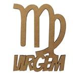 Aplique em MDF 8x6,5cm Signo de Virgem - Palácio da Arte