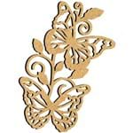 Aplique em MDF Borboletas Encantadas MRL-096 9,3x7,3cm - Palácio da Arte