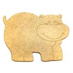 Aplique em MDF Hipopótamo 8x6cm - Palácio da Arte