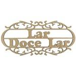 Aplique em MDF Lar Doce Lar 25x11,5cm - Palácio da Arte