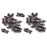 Aplique em Tecido Papoulas Negras ATM007 - Toke e Crie By Mamiko