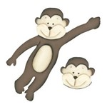 Aplique Madeira e Papel 3d Macaco Ldmpc-36 ? Litocart