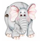 Aplique Madeira e Papel Elefante Lmapc-193 - Litocart