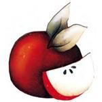 Aplique Madeira e Papel Fruta Maça LMAPC-117 - Litocart