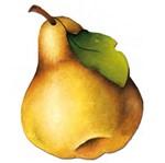 Aplique Madeira e Papel Fruta Pera LMAPC-118 - Litocart