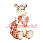 Aplique Madeira e Papel Girafa LMAPC-47 Litocart