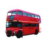 Aplique Madeira e Papel Onibus Londres LMAPC-18 Litocart