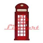 Aplique Madeira e Papel Telephone Ingles LMAPC-11 Litocart