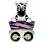 Aplique Madeira e Papel Zebra Lmapc-162 - Litocart