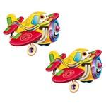 Aplique Mdf Decoupage com 2 Unidades Avião Feliz Lmap-058 - Litocart