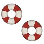 Aplique Mdf Decoupage com 2 Unidades Boia Salva Vidas Lmap-053 - Litocart