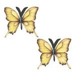 Aplique Mdf Decoupage com 2 Unidades Borboletas Amarelas Lmap-022 - Litocart