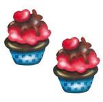 Aplique Mdf Decoupage com 2 Unidades Cupcake Lmap-055 - Litocart