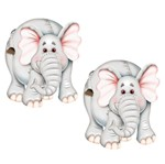 Aplique Mdf Decoupage com 2 Unidades Elefante Lmap-001 - Litocart