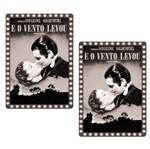 Aplique Mdf Decoupage com 2 Unidades Filme e o Vento Levou Lmap-065 - Litocart