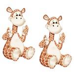 Aplique Mdf Decoupage com 2 Unidades Girafa Sentada Lmap-006 - Litocart