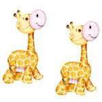 Aplique Mdf Decoupage com 2 Unidades Girafinha Lmap-004 - Litocart