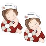 Aplique Mdf Decoupage com 2 Unidades Menina Marinheira Lmap-033 - Litocart