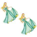 Aplique Mdf Decoupage com 2 Unidades Princesa Cinderela Lmap-042 - Litocart