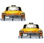 Aplique Mdf Decoupage com 2 Unidades Táxi Amarelo Lmap-066 - Litocart