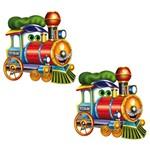 Aplique Mdf Decoupage com 2 Unidades Trem Alegre Lmap-057 - Litocart