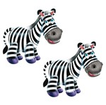 Aplique Mdf Decoupage com 2 Unidades Zebra Feliz Lmap-002 - Litocart