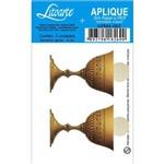 Aplique Mdf e Papel Litoarte 4 Cm - Modelo Apm4- 062 Calice e Hostia