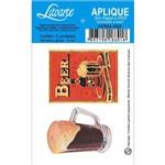 Aplique Mdf e Papel Litoarte 4 Cm - Modelo Apm4- 092 Caneco Cerveja e Duff