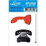 Aplique Mdf e Papel Litoarte 4 Cm - Modelo Apm4- 110 Telefones