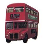 Aplique Mdf e Papel Litoarte 8 Cm - Modelo Apm8- 091 Ônibus