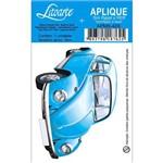 Aplique Mdf e Papel Litoarte 8 Cm - Modelo Apm8- 429 Fusca Azul
