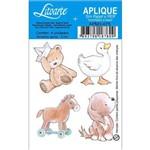 Aplique Mdf e Papel Litoarte 3 Cm - Modelo Apm3- 075 Animais Meninos