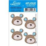 Aplique Mdf e Papel Litoarte 3 Cm - Modelo Apm3- 093 Urso