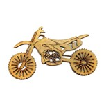 Aplique Moto Cross Pequena - MDF a Laser