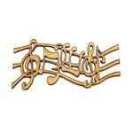 Aplique Notas Musicais - MDF a Laser