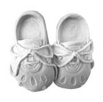 Aplique Par de Sapatos com Cadarço 8x8,2x2,5cm - Resina