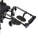 Apoio de Pés Elevável e Removível com Suporte de Panturrilha para Cadeiras de Rodas Ortobras
