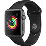 Apple Watch Series 3 GPS com Pulseira Esportiva Cinza e Preto - 42 Mm