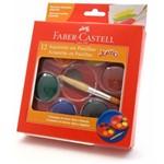 Aquarela em Pastilha Faber Castell Jumbo Cores Basicas 19.0012jb