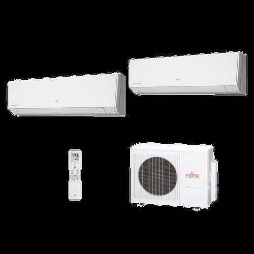 Ar Condicionado Multi Split Fujitsu 18.000 BTUs (2x Evap HW 9.000) Quente/Frio 220V