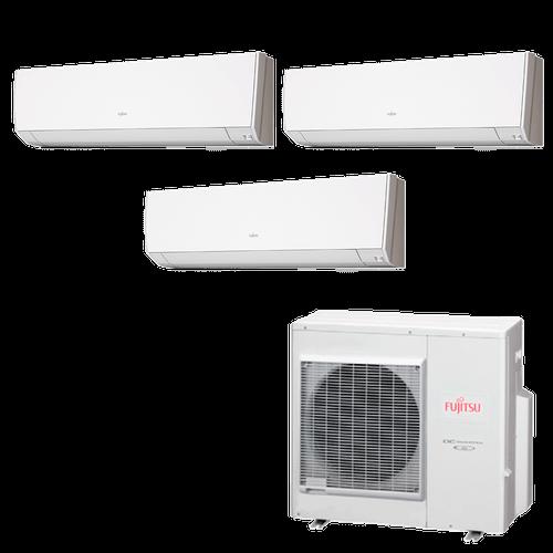 Ar Condicionado Multi Split Inverter Fujitsu 35.000 BTUs (3x Evap HW 12.000) Quente/Frio 220V