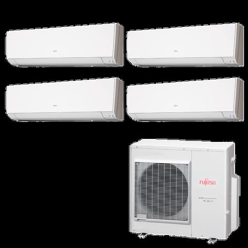Ar Condicionado Multi Split Inverter Fujitsu 35.000 BTUs (3x Evap HW 9.000 + 1x Evap HW 12.000) Quente/Frio 220V