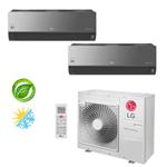 Ar Condicionado Multi-Split LG ArtCool Inverter 30.000 BTU/h (1x 7.200 e 1x 22.500) Quente/Frio 220V